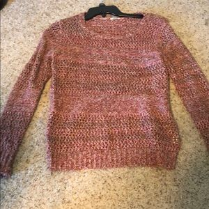Fossil Red and White Sweater Size Medium